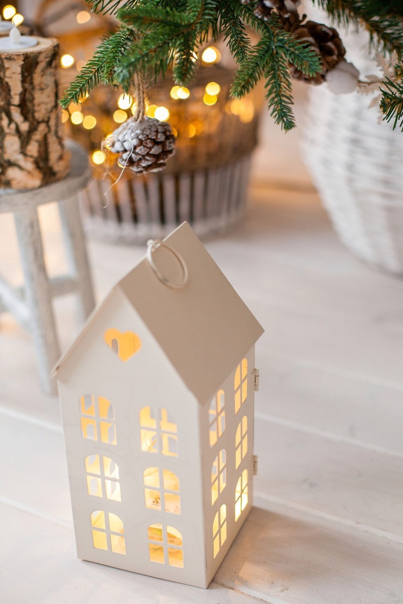 You could paint this little house or keep it plain white for an artsy look. Put a battery powered candle inside to light it up.