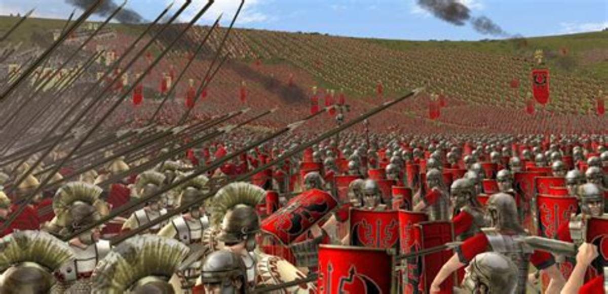 Rome:Total War battle gameplay.