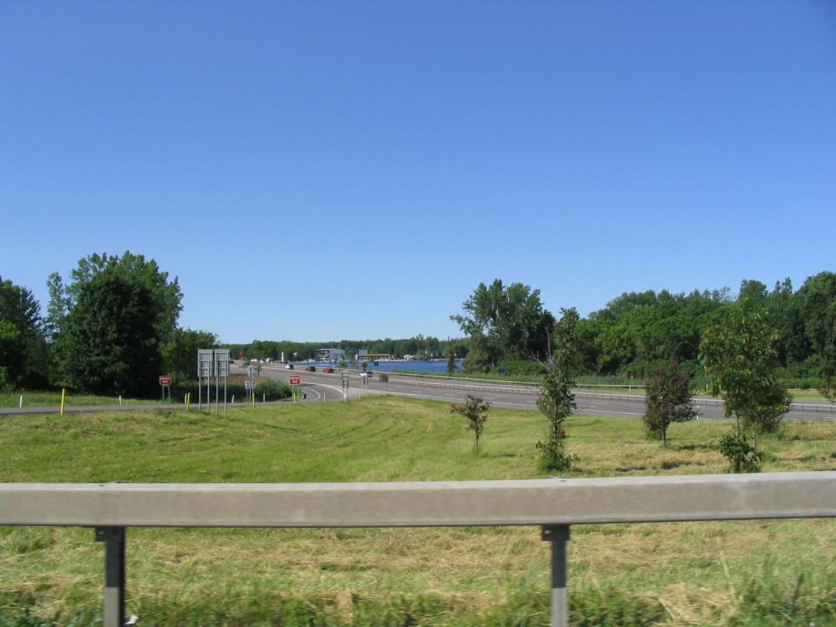 Interstate 81 going through Brewerton, NY