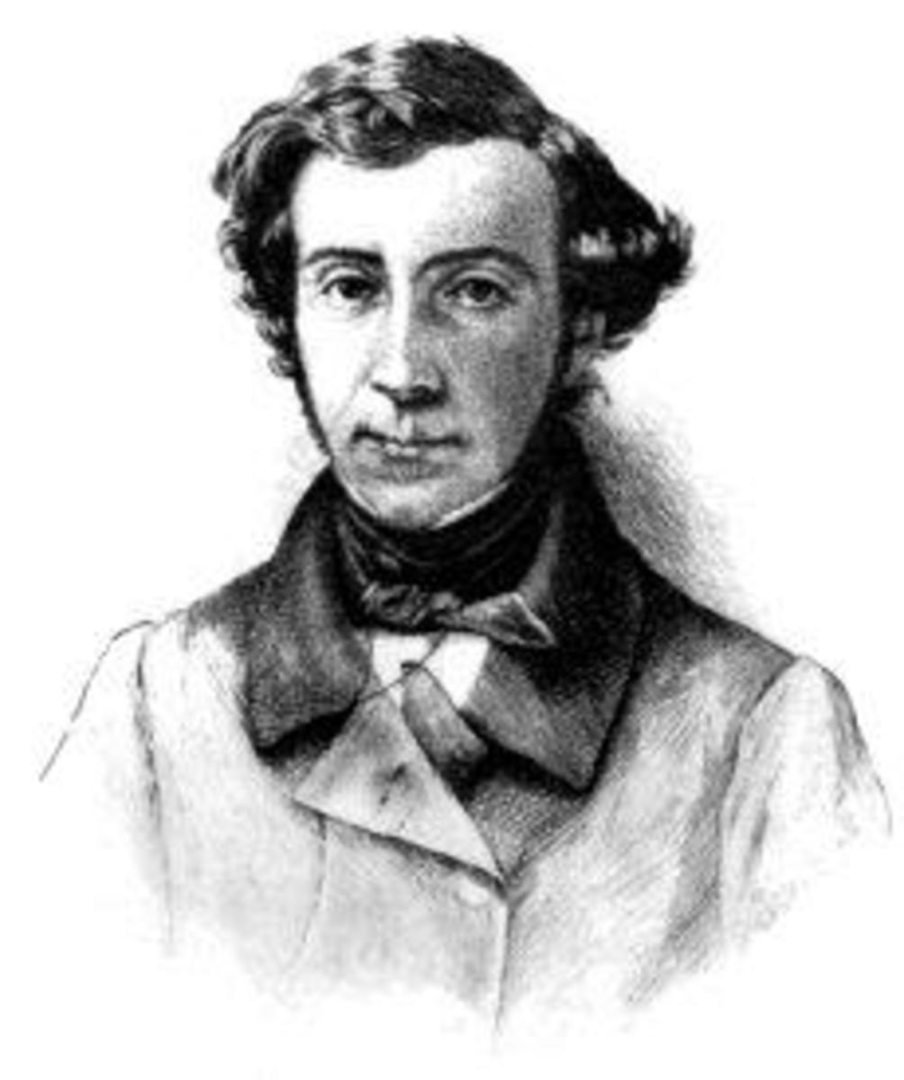 "Alexis de Tocqueville Photogravure from a steel engraving from 1899 edition of ""Democracy In America"""