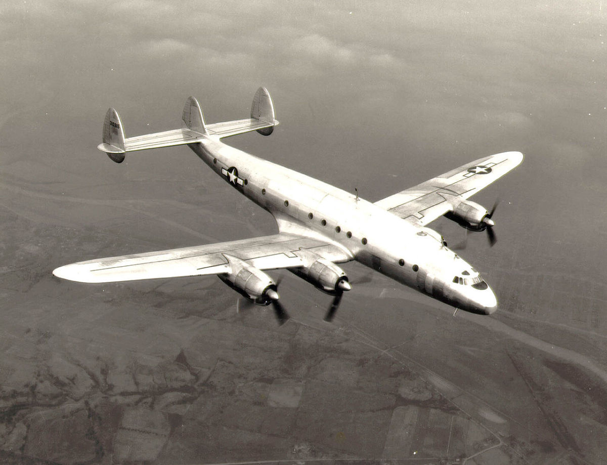 A C-69 Constellation in flight, 1945.