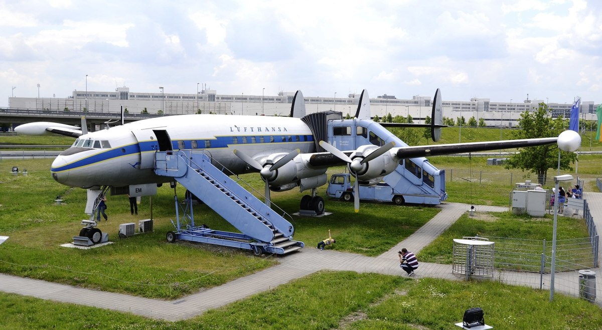 A Lufthansa L-1049G Super Constellation on display near Munich IAP.