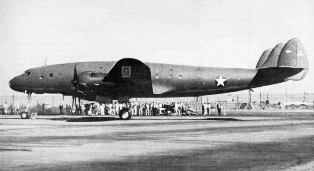 The first Lockheed Constellation, January 9, 1943.