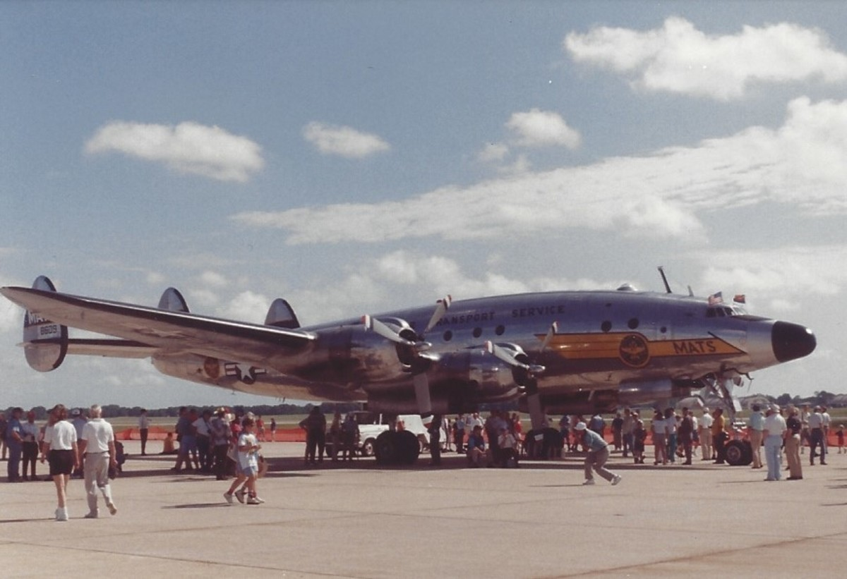 A Lockheed Constellation in MATS markings at Joint Base Andrews, July 1995.