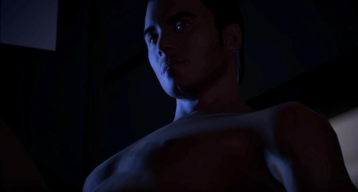 Ewwwwww. (Kaidan's final romance scene in the first game.)