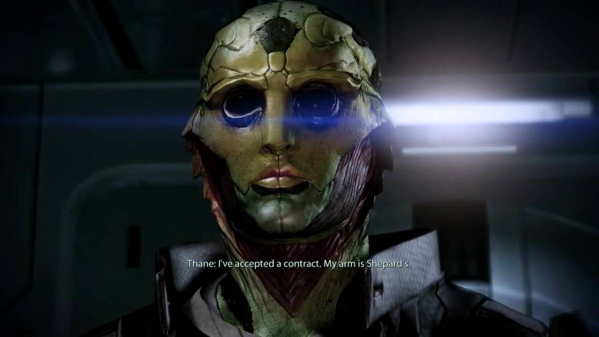 """Thane is recruited in """"Mass Effect 2."""""""