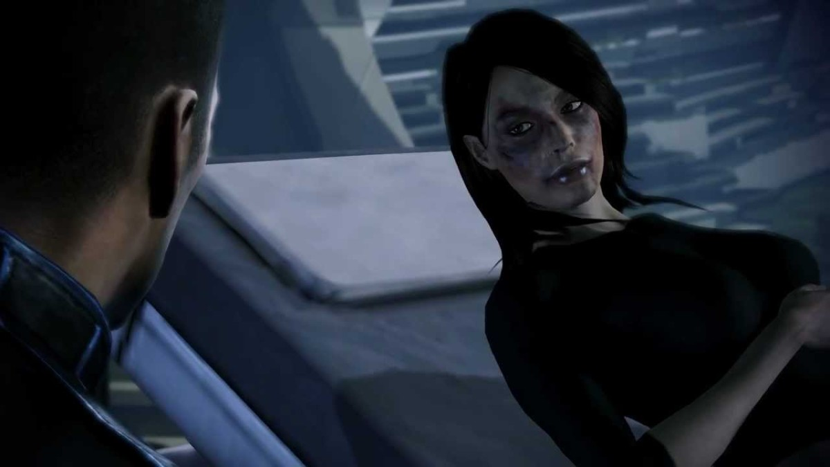 Ashley and Male Shepard arguing in Mass Effect 3.
