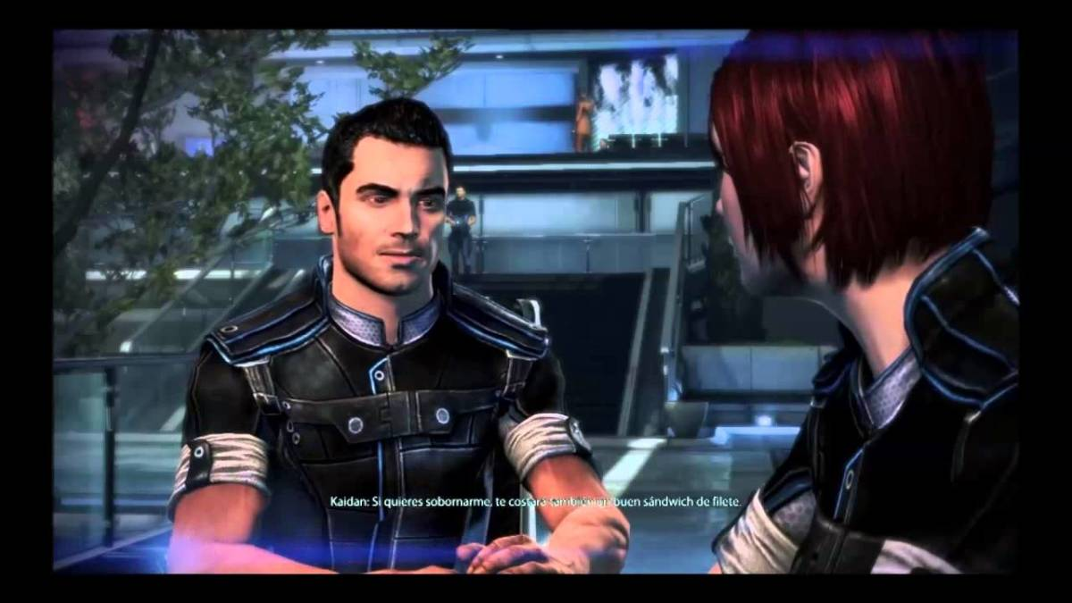 "Kaidan accusing Shepard of ""cheating."""