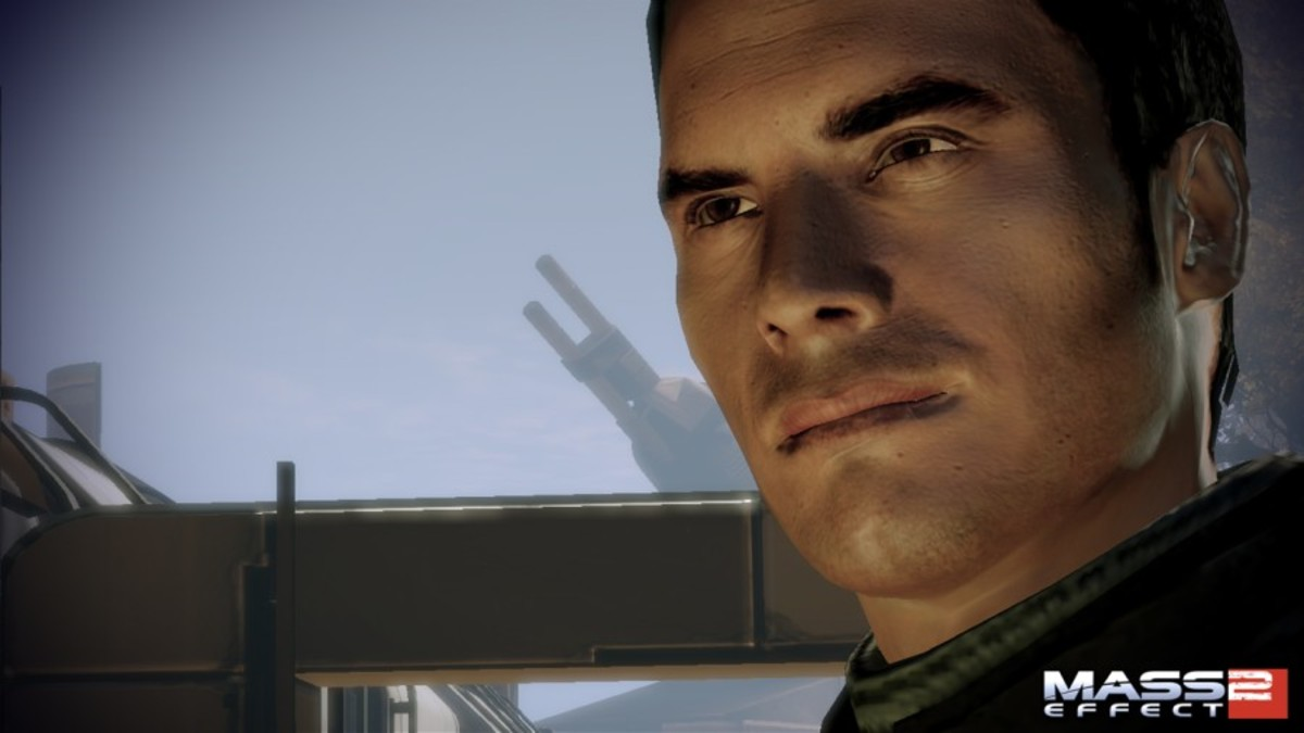 Kaidan as he appeared on Horizon, right before arguing with Shepard.