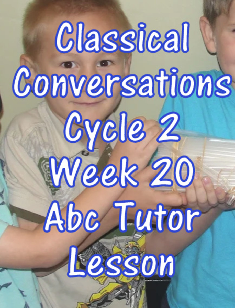 CC Classical Conversations Cycle 2 Week 20 Abc Tutor Plan