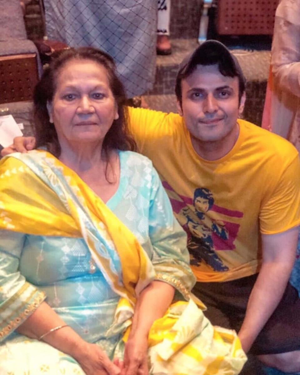 Usman Mukhtar with his Mother