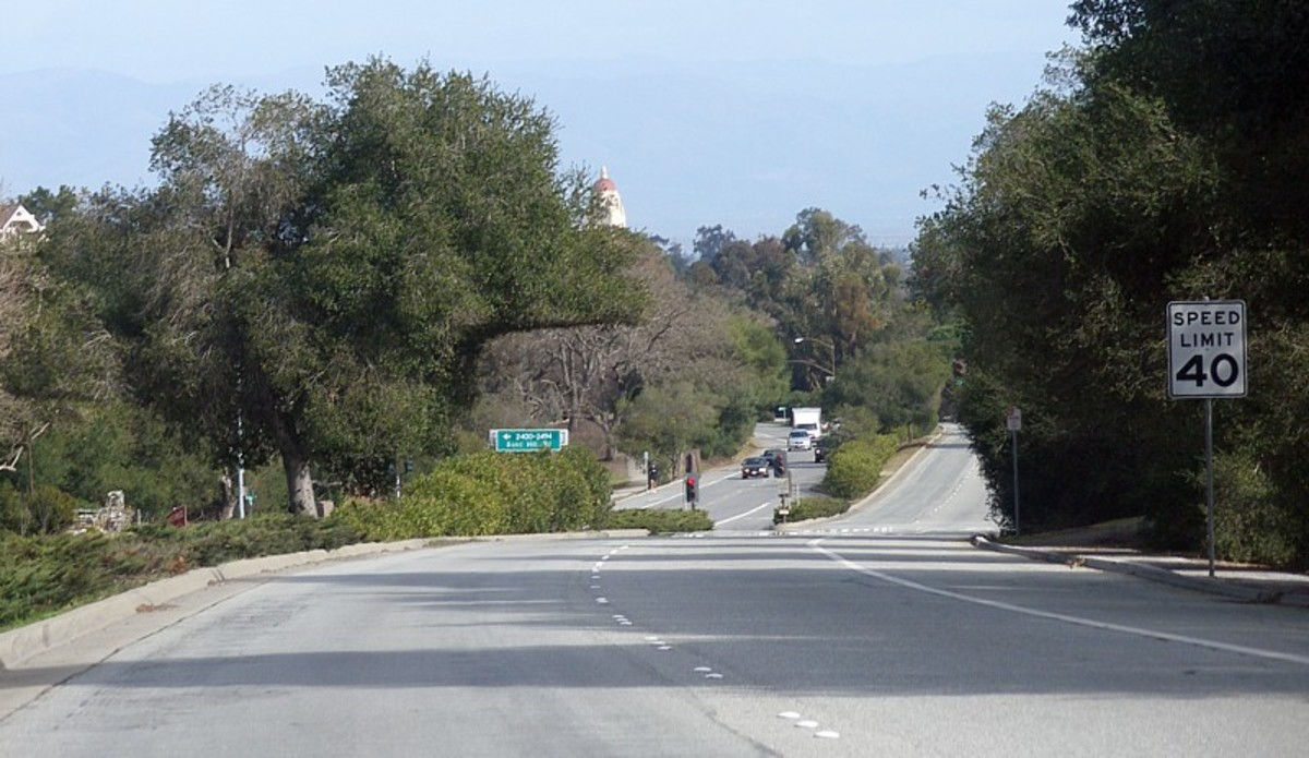 Driving down Sandhill Road