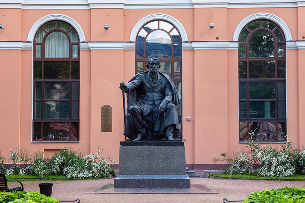 Statue of Ivan Sergeyevich Turgenev in St. Petersburg, Russia