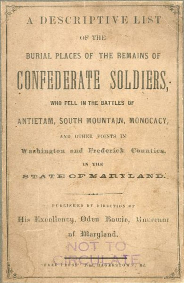 """The """"Bowie List"""" of Confederate Dead in Maryland, published in 1869"""
