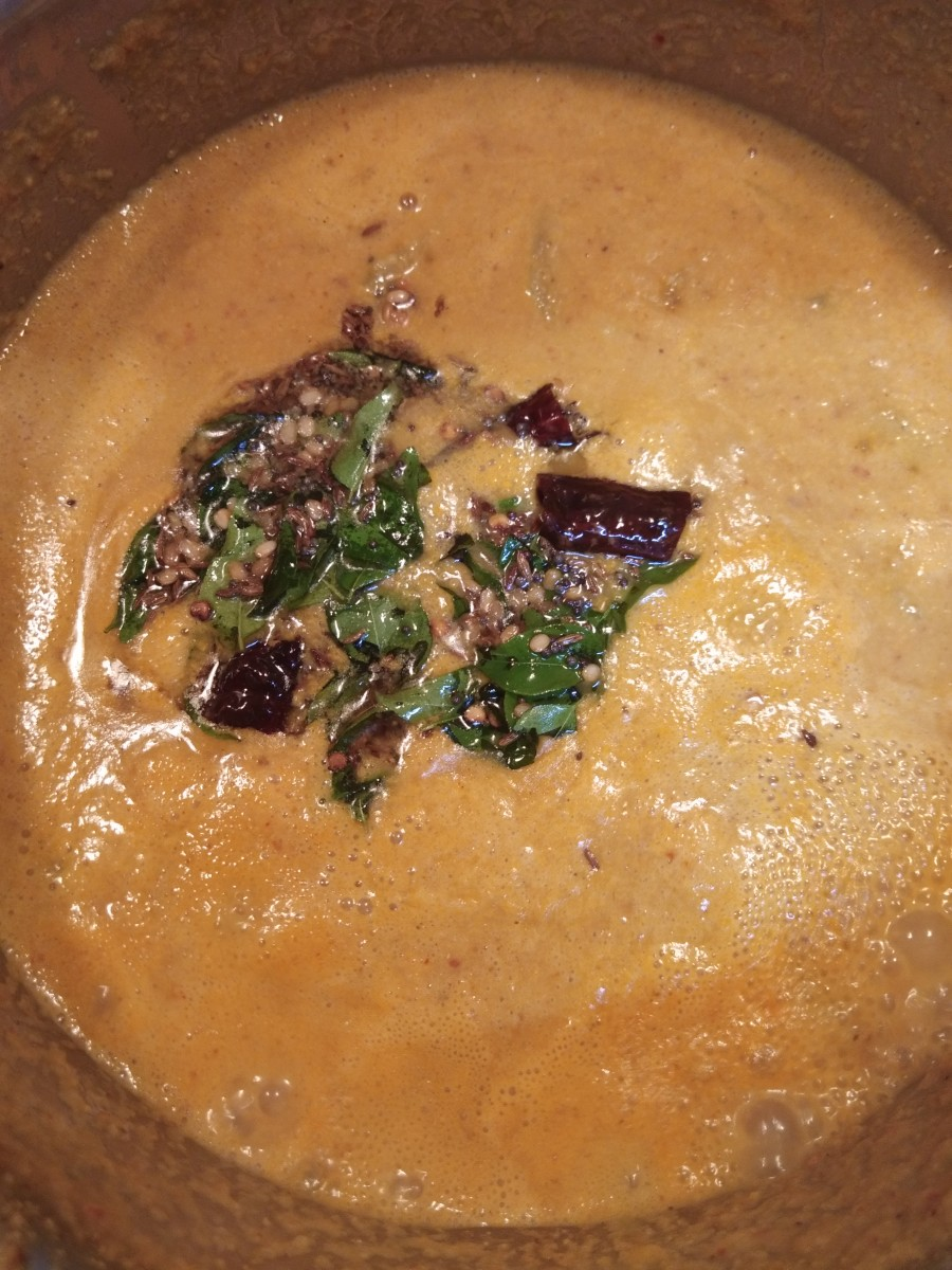 Add this seasoning to sambar.
