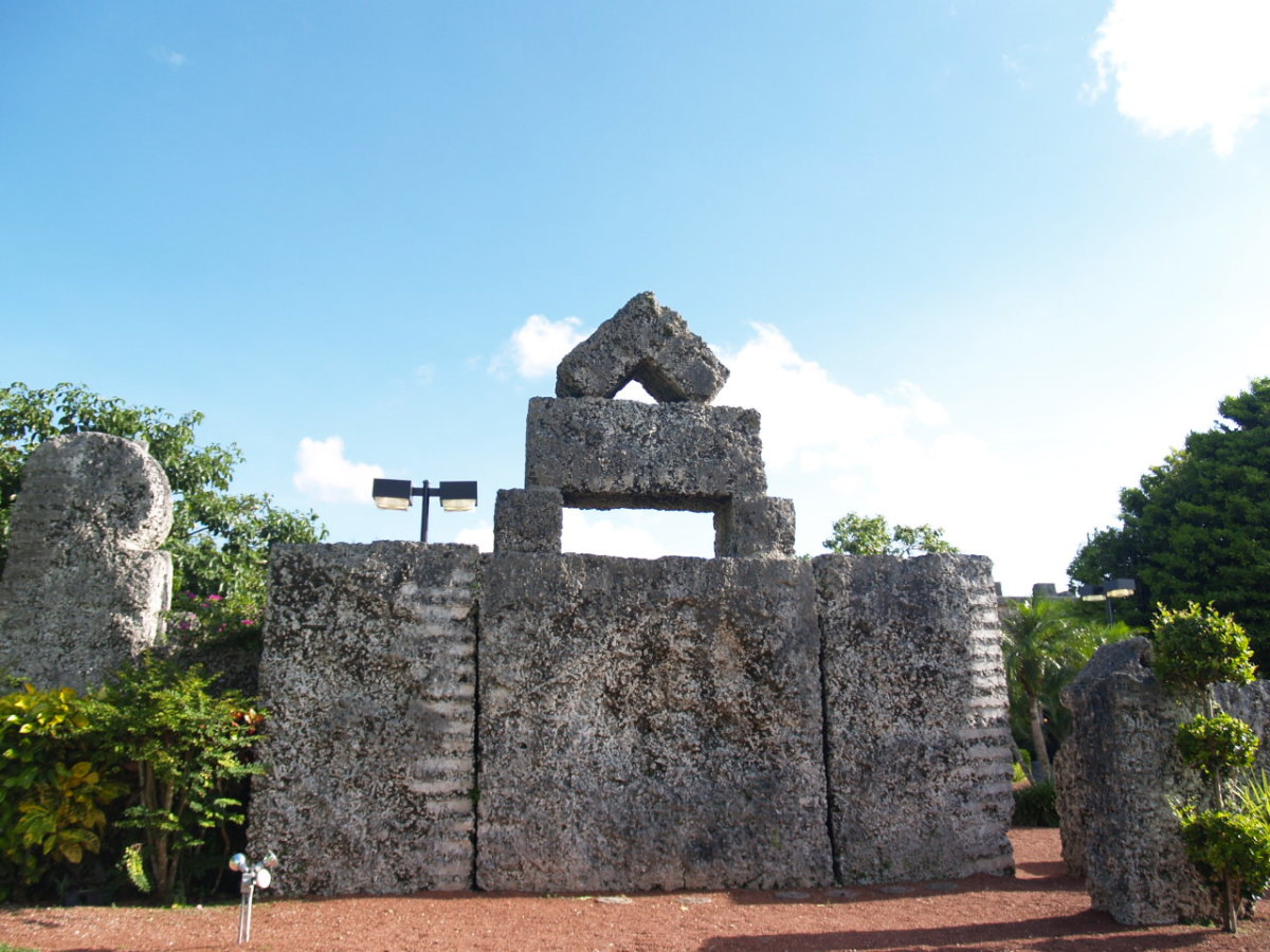 A 30 ton stone found at Coral Castle