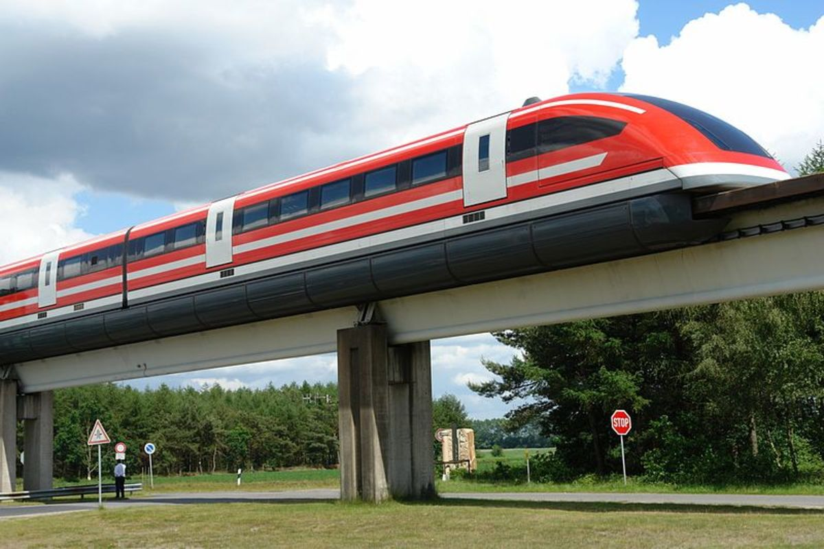 The Maglev is a train powered by magnetic levitation.