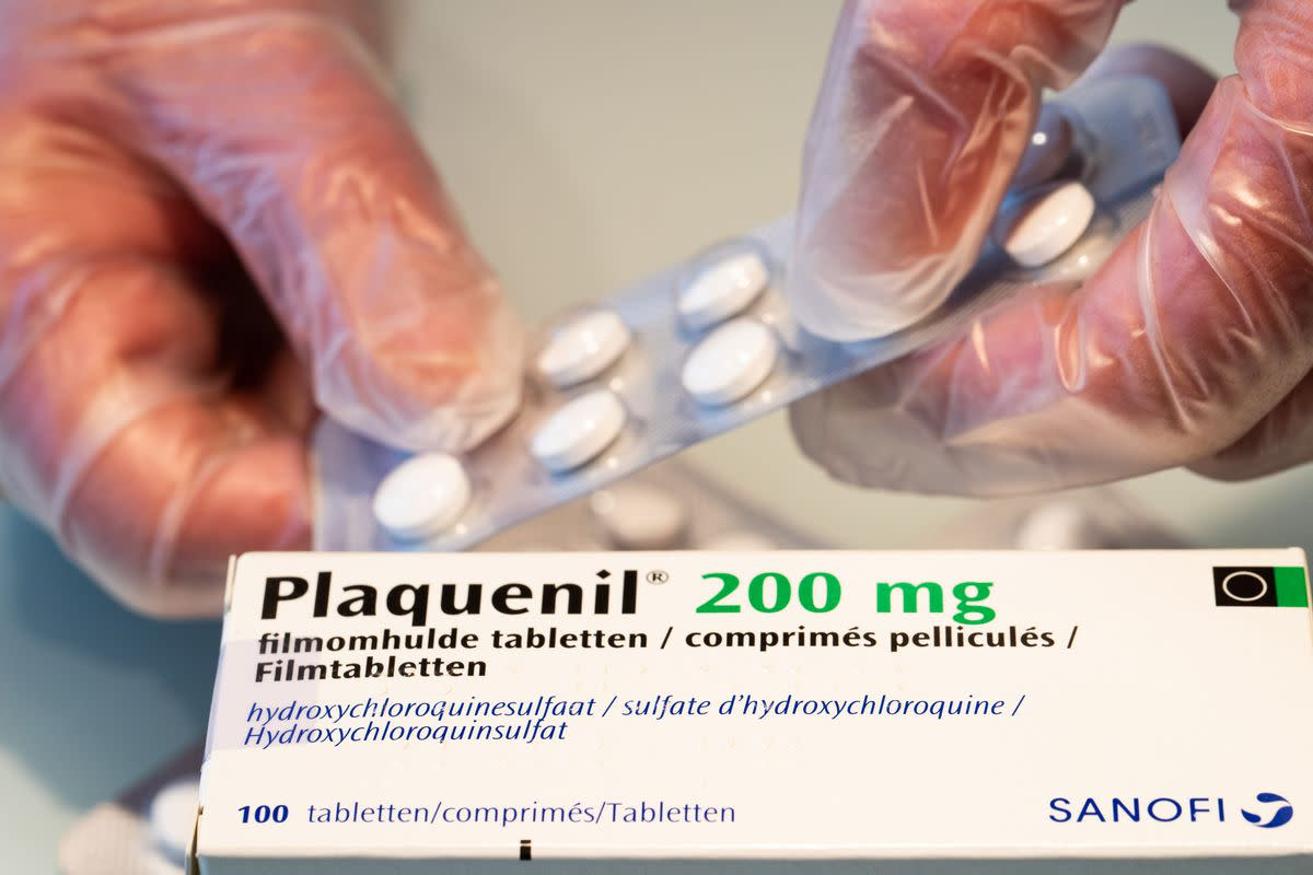 Plaquenil, a brand name of Hydroxychloroquine produced by Sanofi, a Paris-based pharmaceutical company in which Trump has a small amount of stakes via mutual funds