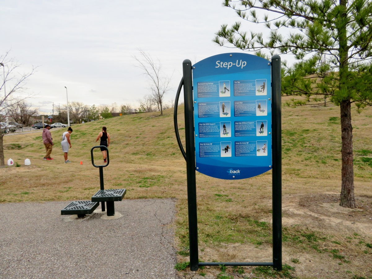One of the exercise stations in the park