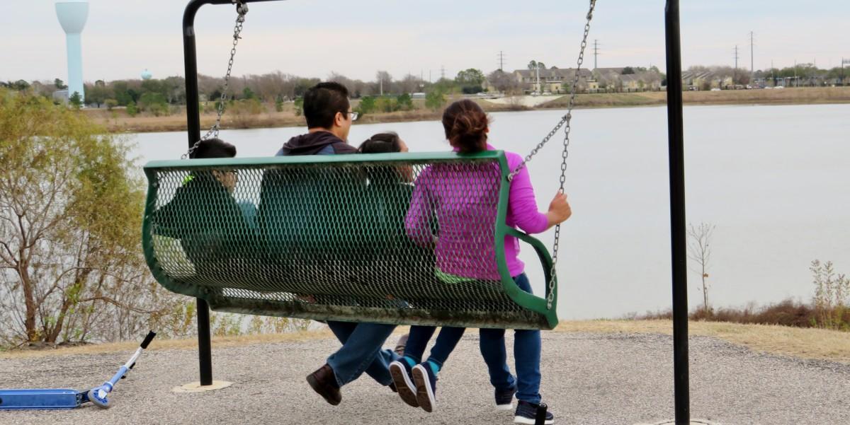 Family fun in Archbishop Joseph Fiorenza Park