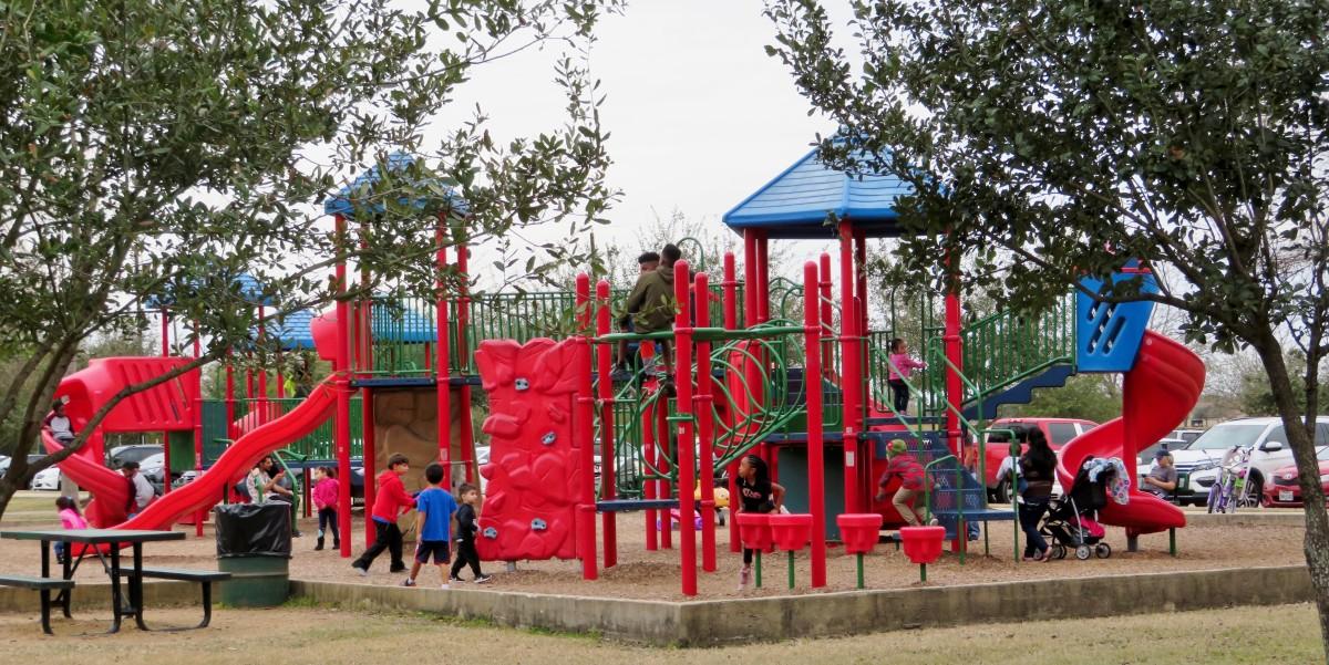 Children's Playground in Archbishop Joseph A. Fiorenza Park