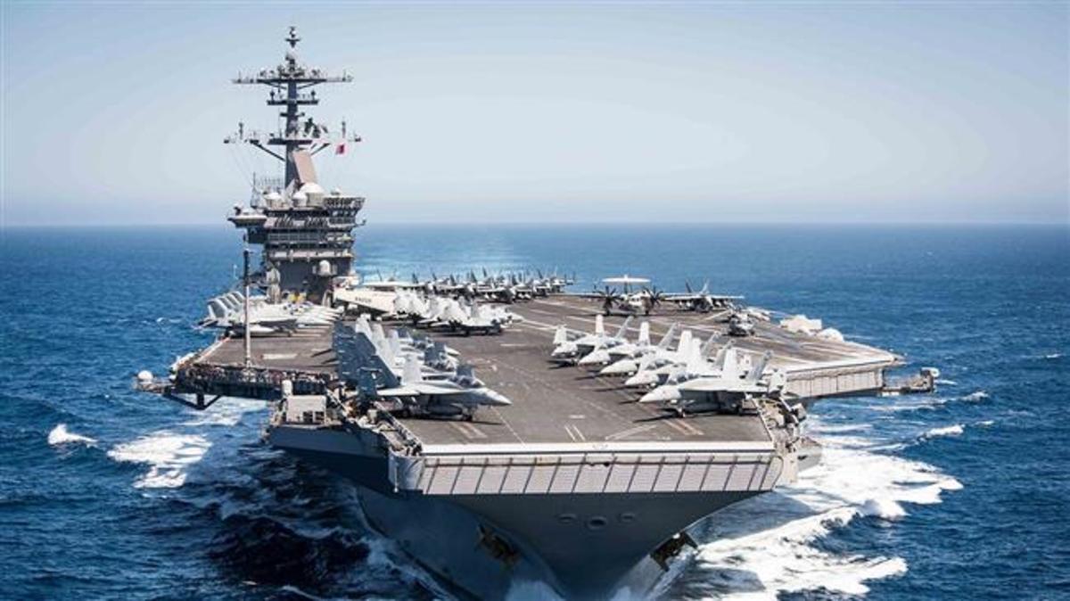 The USS Theodore Roosevelt.