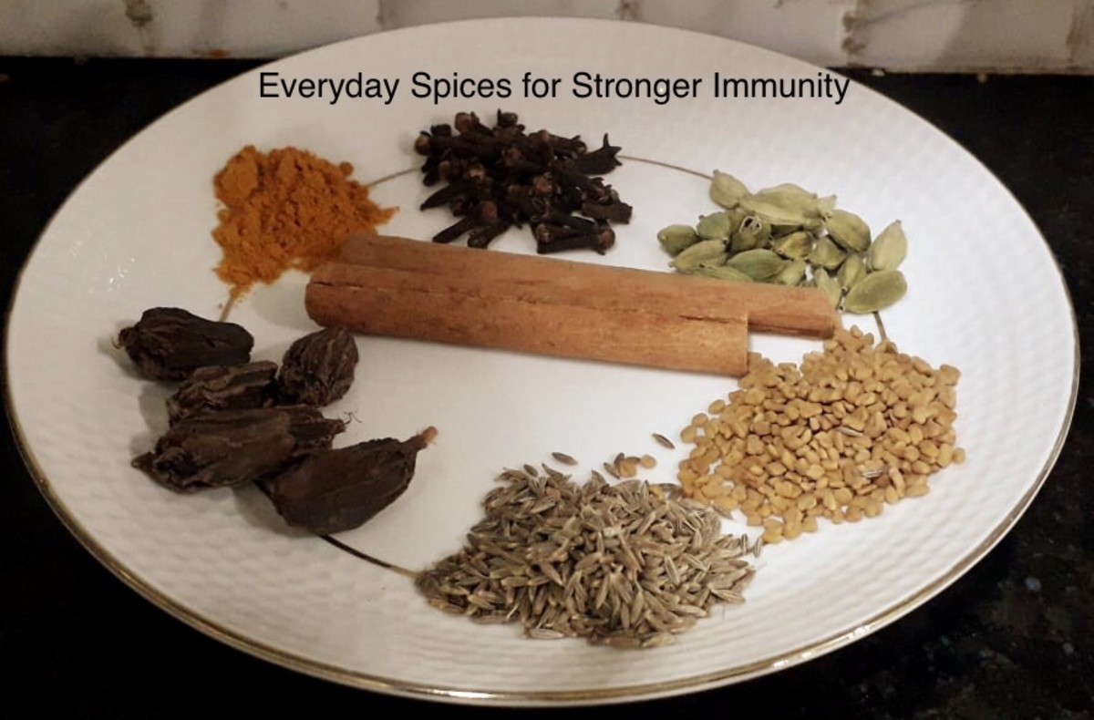 Everyday Spices and Herbal Tea, For Stronger Immunity