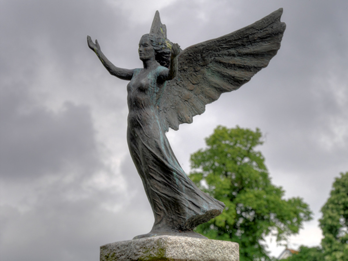 An Angel of Mons statue was erected in southern England in 1929.