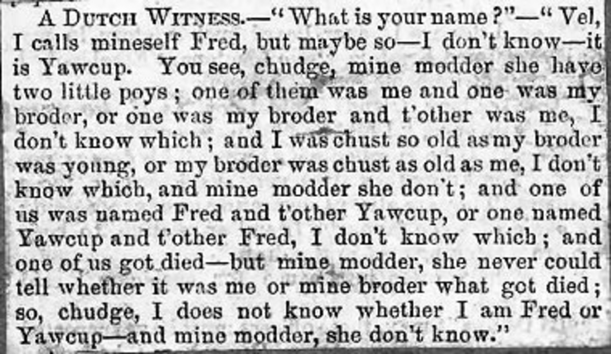 A Dutch witness who didn't know his name