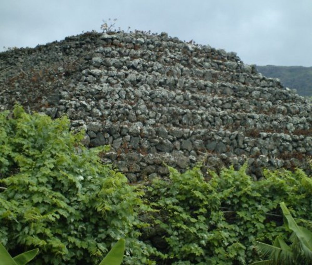 One of the Camino de La Suerte pyramids