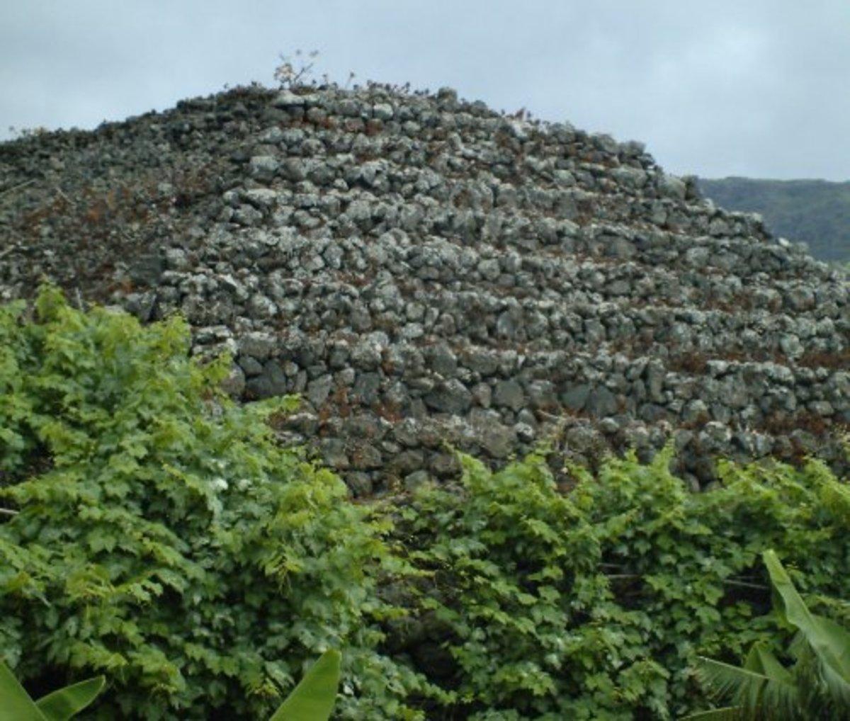 One of the Camino de La Suerte pyramids