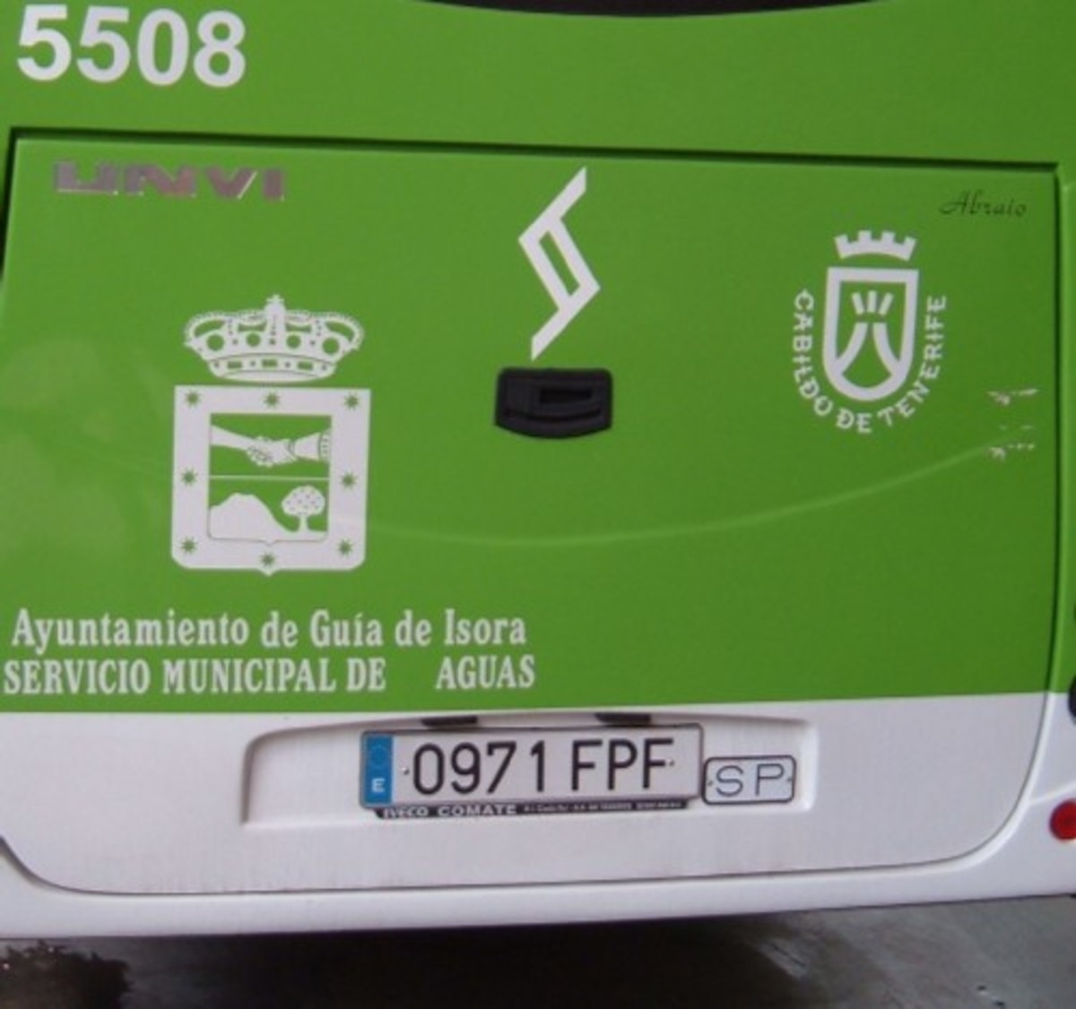 Back of a Tenerife bus