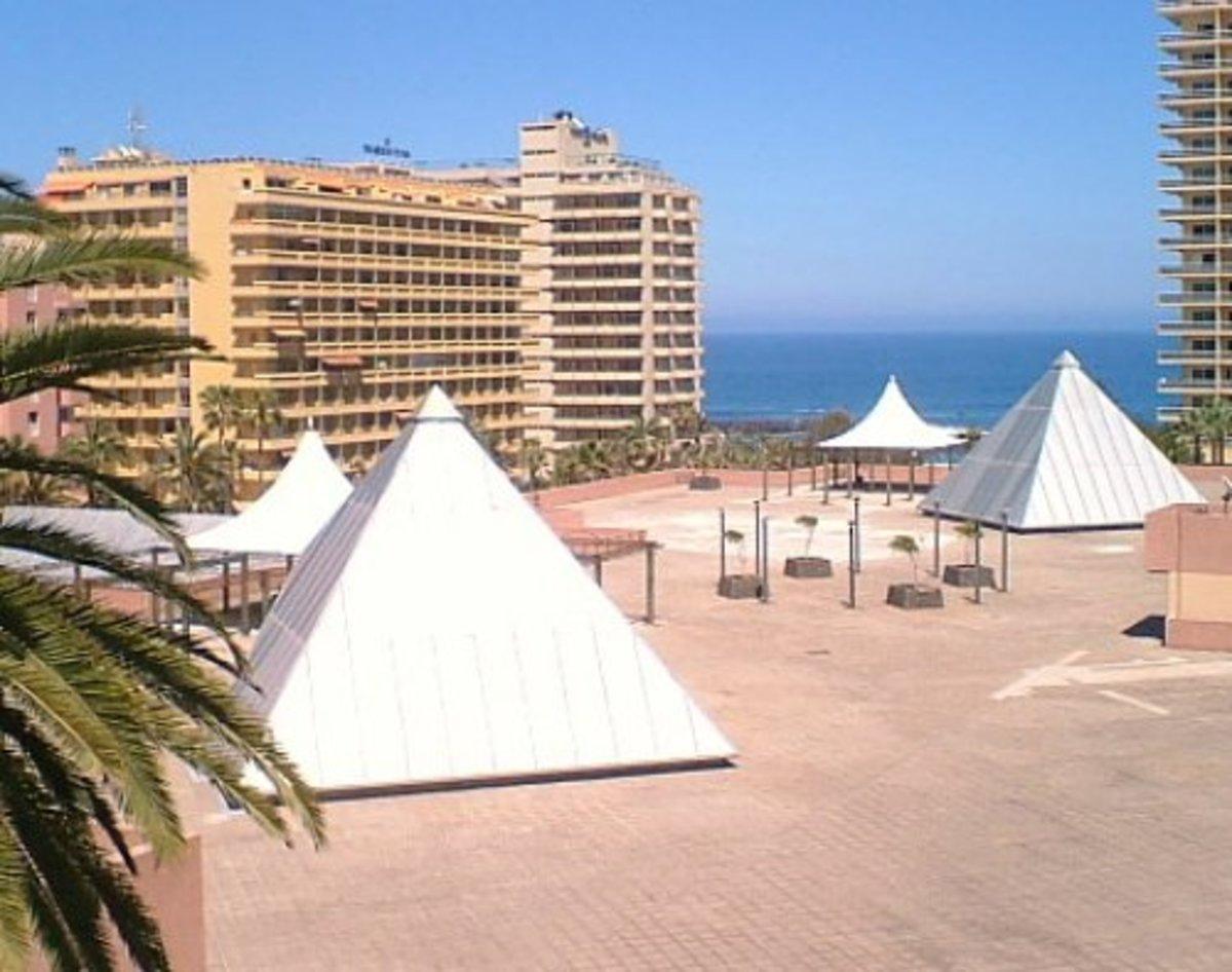 Pyramids on the Martianez shopping centre in Puerto de la Cruz