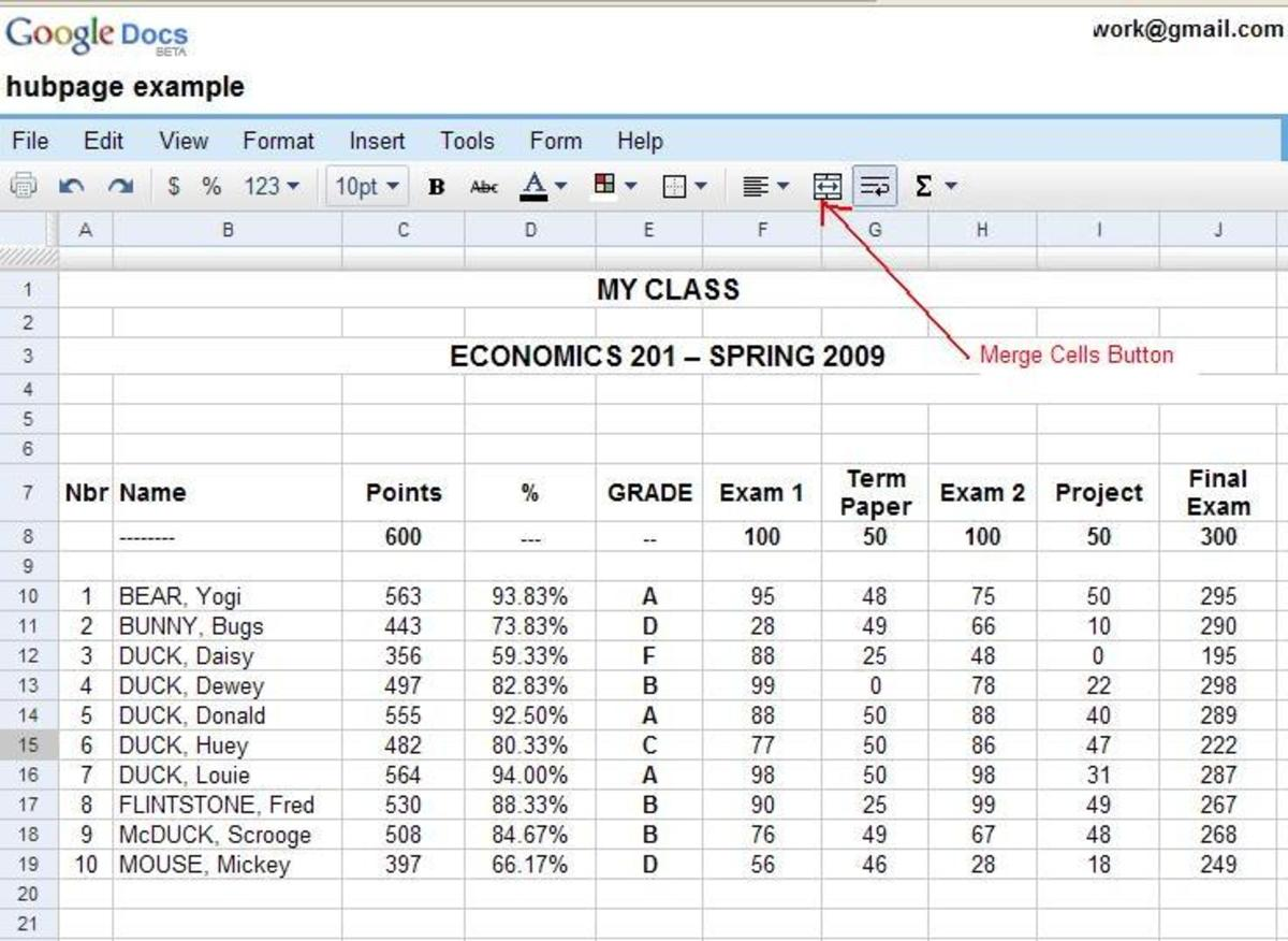 How Teachers Can Automate their Grade Book Using a Google Docs Spreadsheet