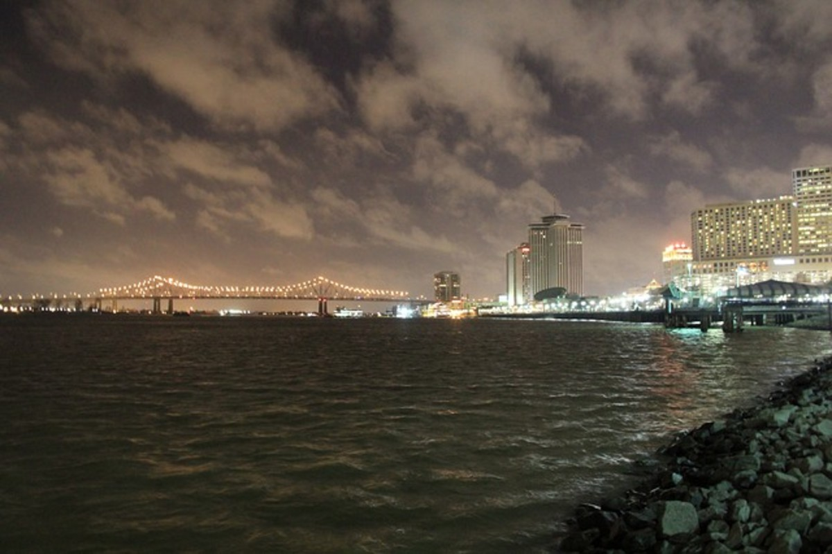 The Mississippi River at New Orleans.