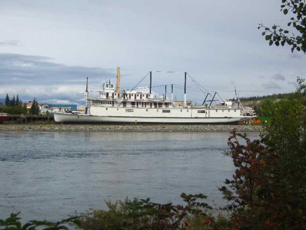Yukon river riverboat.