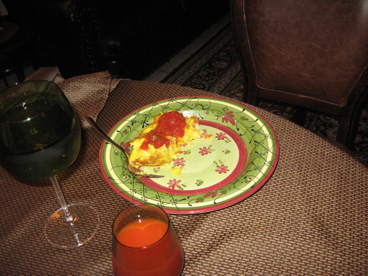 In Tucson you don't eat eggs, including ostrich egg, unless they are covered with salsa