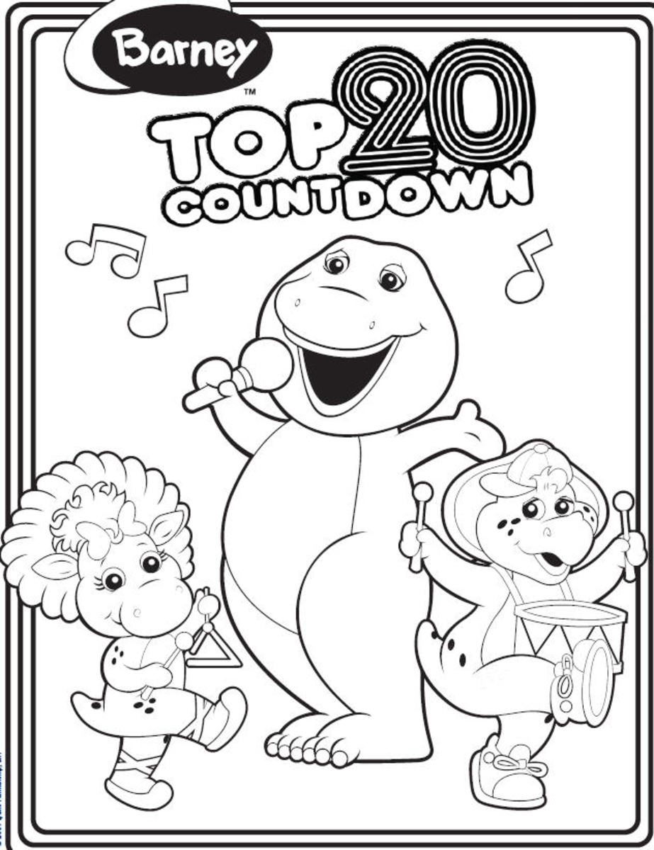 Free printable barney coloring pages hubpages for Baby bop coloring pages