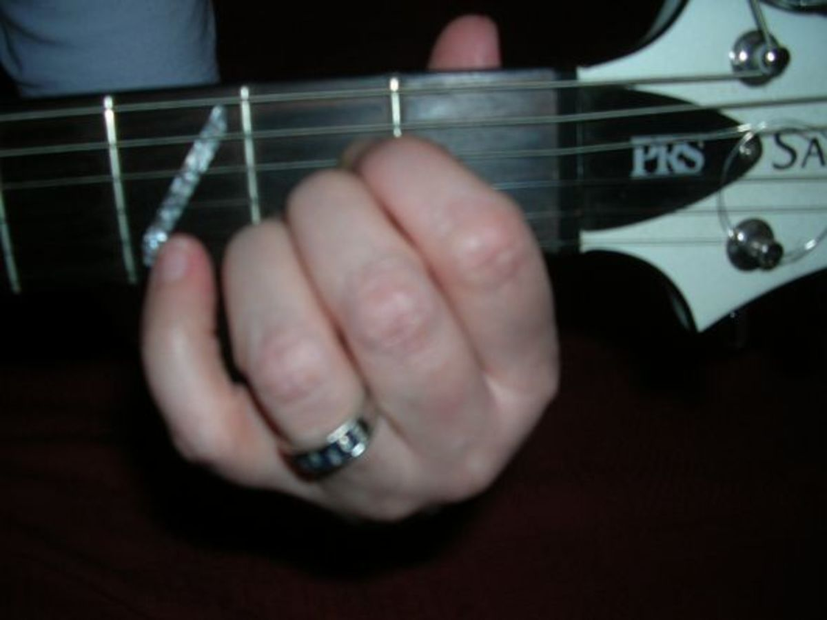 This is the A chord as a photo shot - it might be helpful to understand the basics. The chord diagrams look upside down compared to the guitar because that is how TAB is written, but the photo is the right way. Guitar players soon get used to it so d