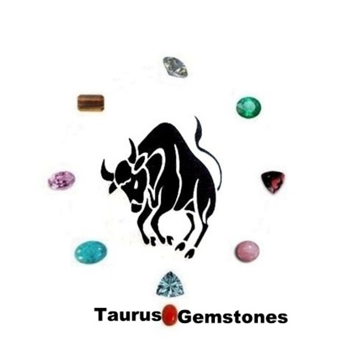 Taurus Gemstones : Diamond, Aquamarine, Kunzite, Garnet, Tiger Eye Quartz, Emerald, Rose Quartz, red coral and Turquoise.
