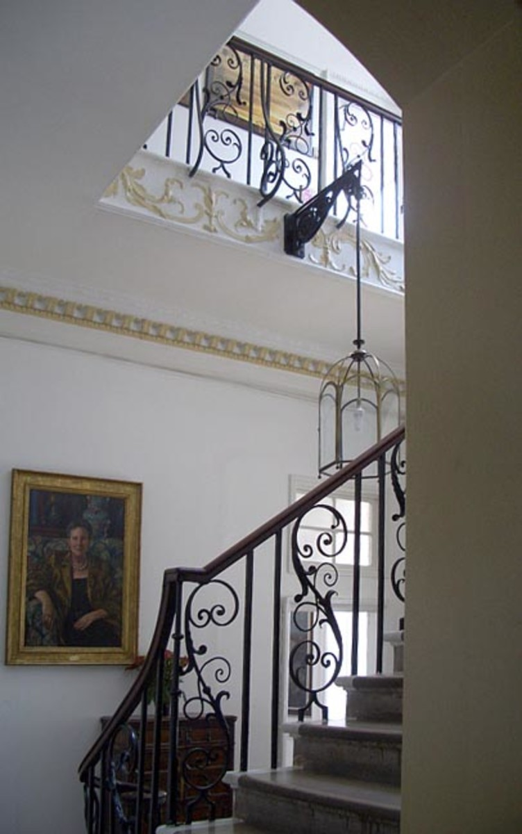 Interior Stairwell Where Ghost Of Hanging Boy Is Seen