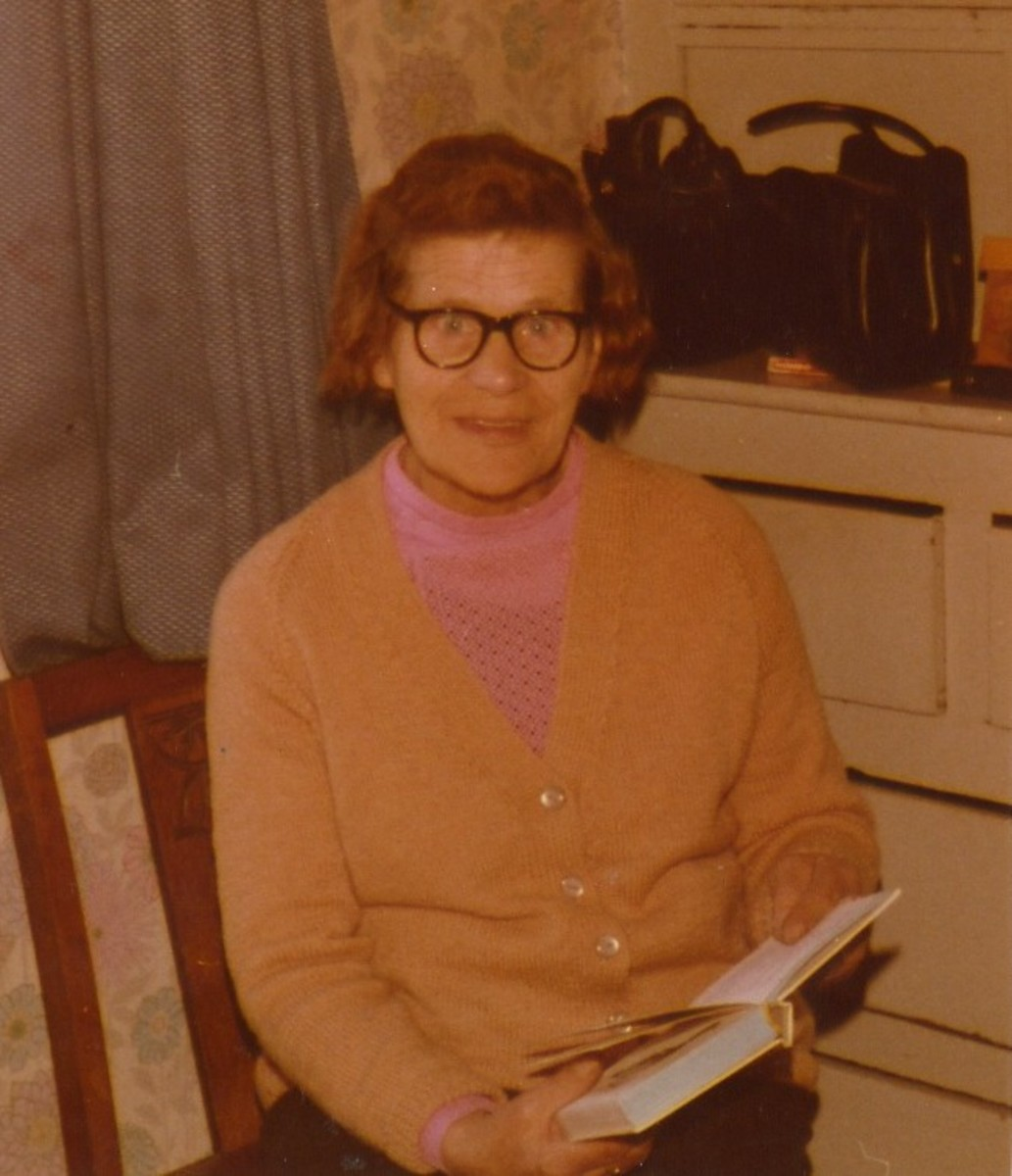 My maternal grandmother; photo circa 1970.