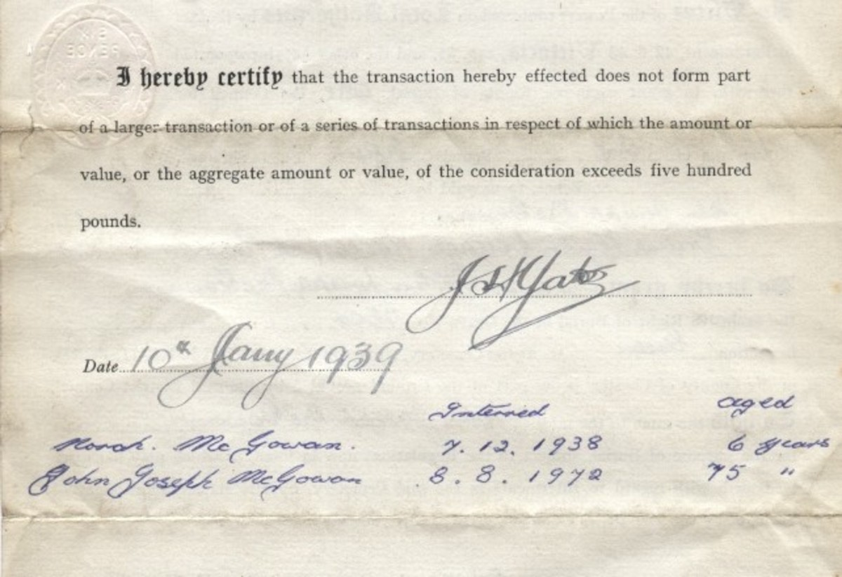 A revealing handwritten note on the rear of the certificate.