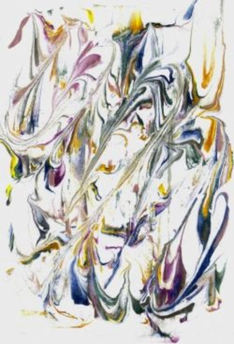 an example of marbled paper using the shaving foam method