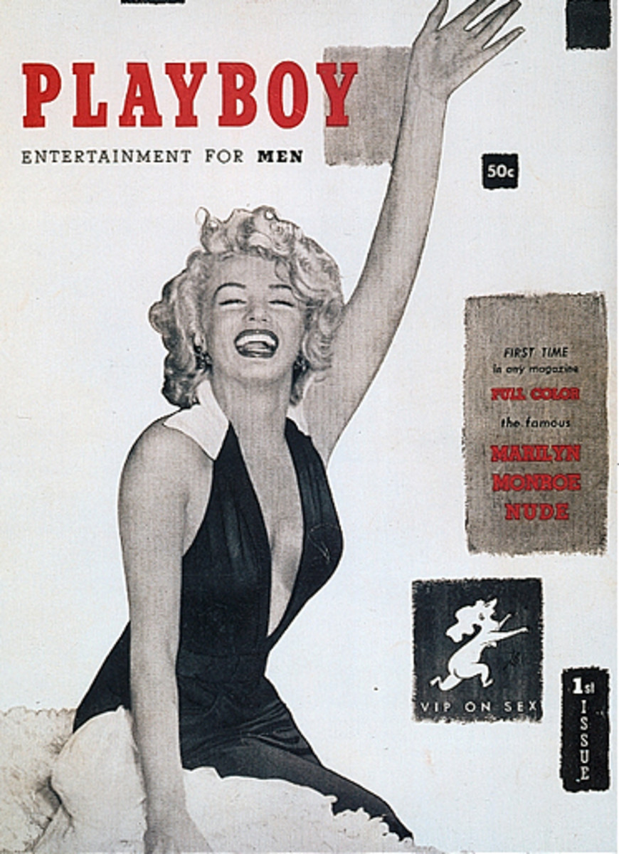 The maiden issue of Playboy magazine featuring Marilyn Monroe.