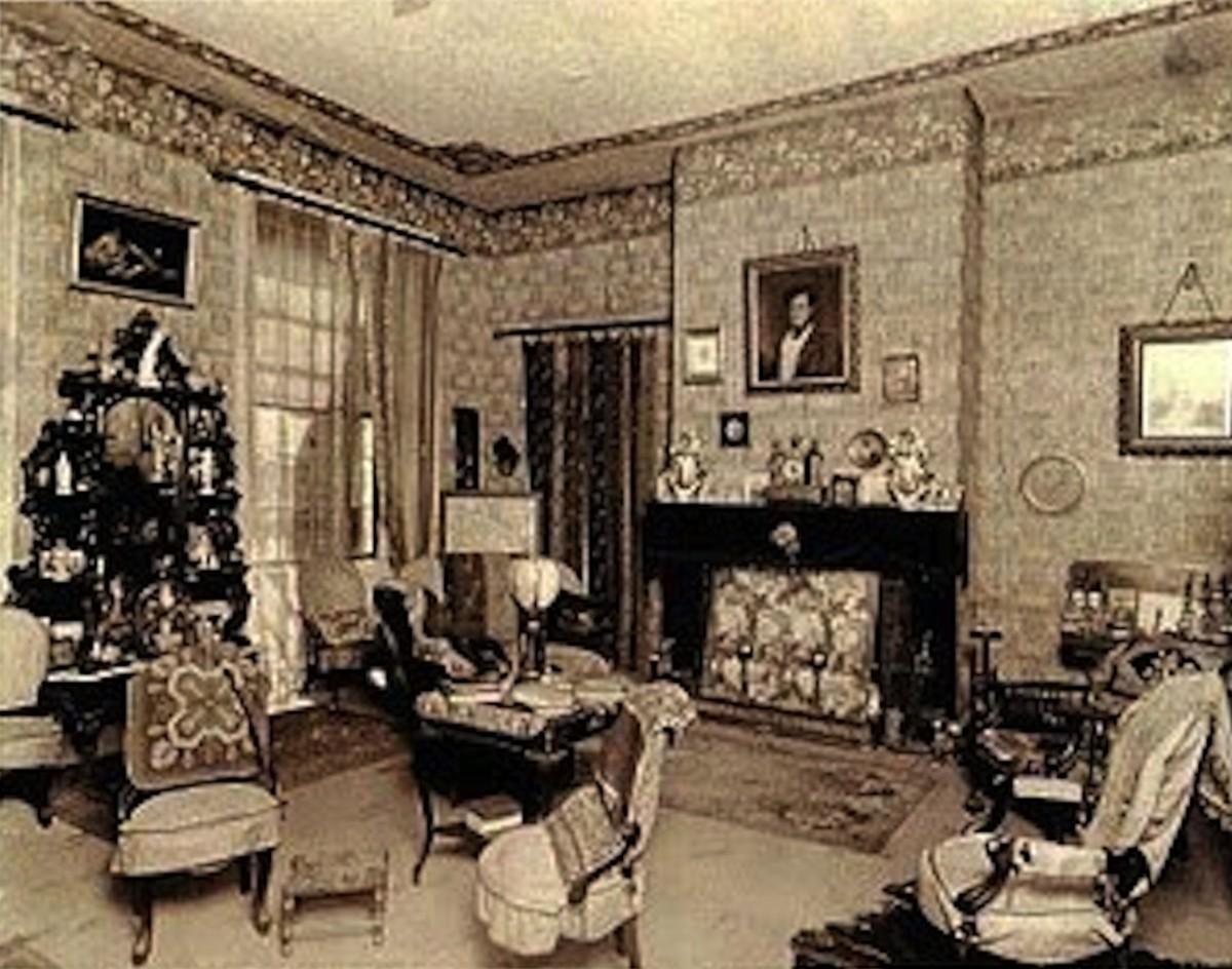 Victorian parlor.