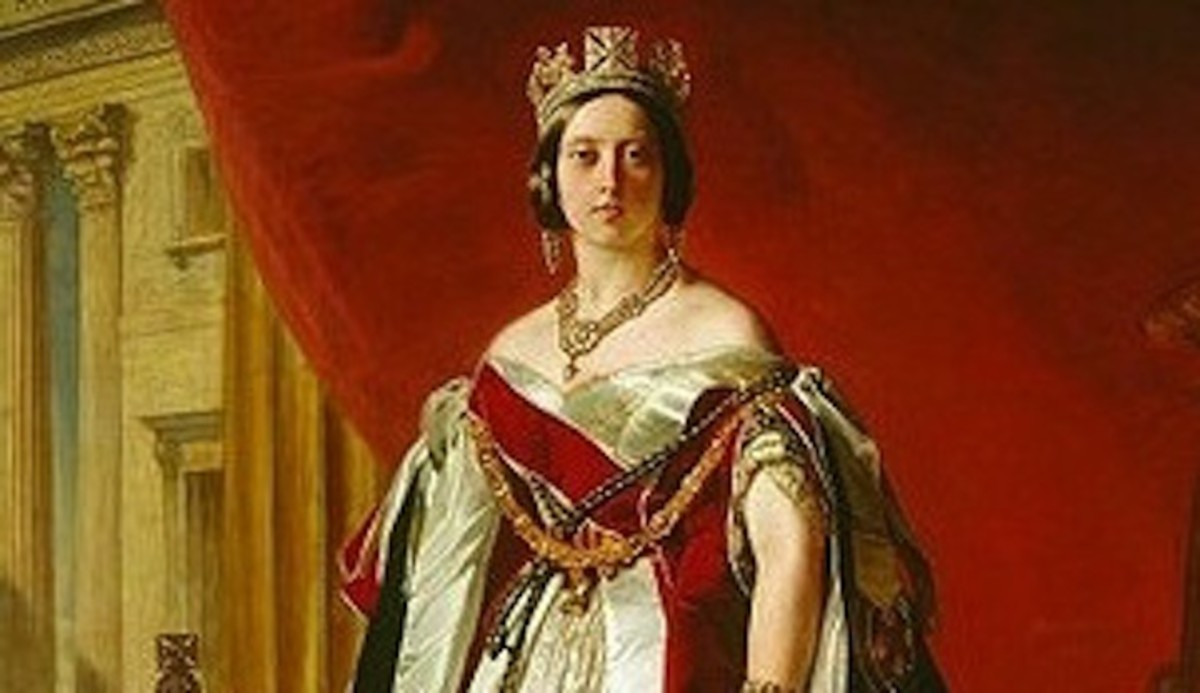 Portrait of Queen Victoria in 1843