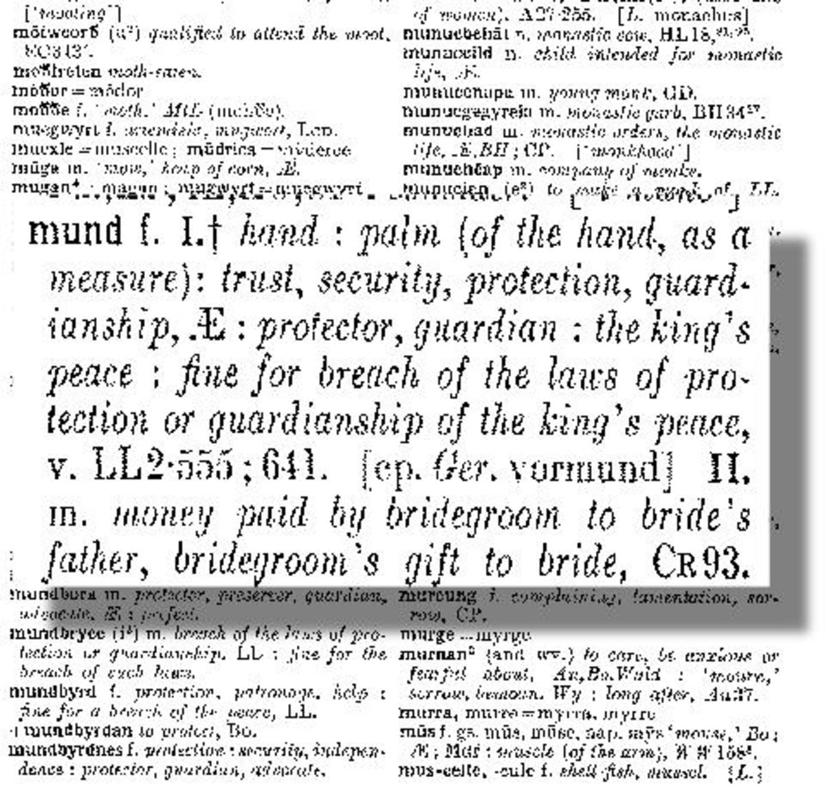Anglo Saxon Dictionary
