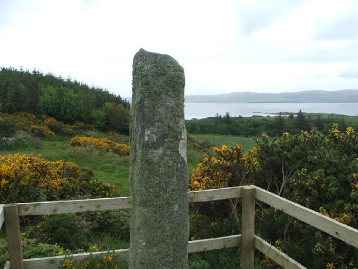 the Ogham Stone, GIGHA