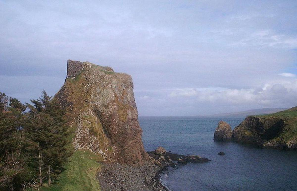 Ruins of a castle on top of a stack on CANNA
